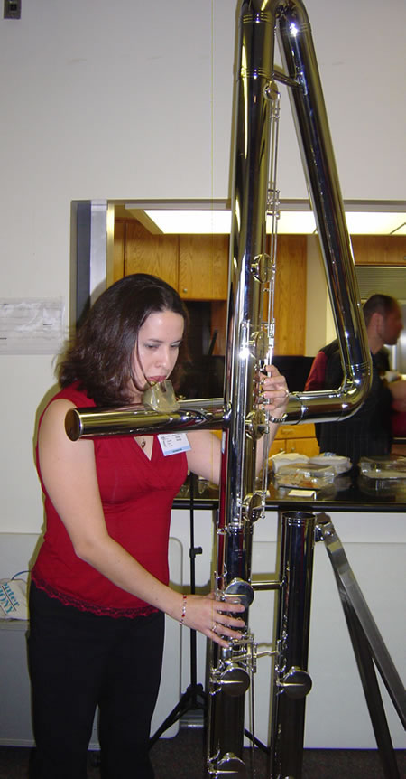 Double Contrabass Flute – The World's Biggest Metal Flute ...  Double Contrabass Flute Case